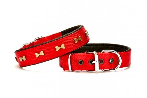 Doggie Softlu Dokuma Köpek Boyun Tasması 3 cm x 55 cm Kırmızı