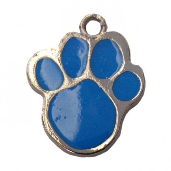 Patili Kedi Köpek İsimlik Aksesuar 2,5 cm Mavi