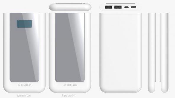 Soultech 10000 Mah Powerbank Aynalı Dijital Çift USB Micro&Type-C