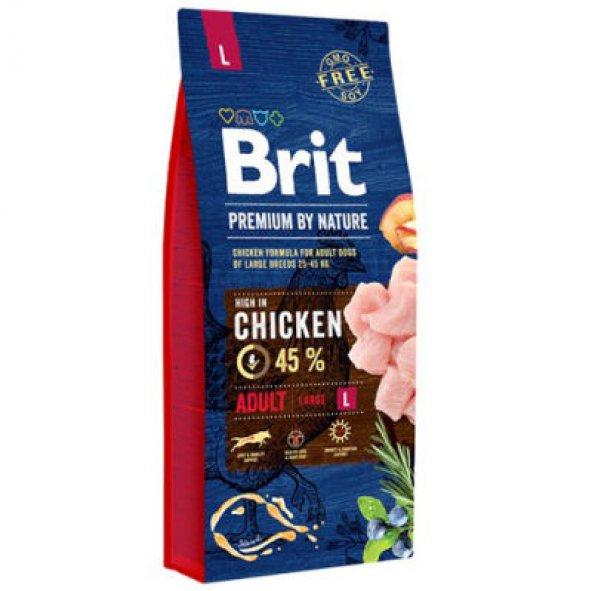 Brit Premium By Nature Adult L Büyük Irk Tavuklu Yetişkin Köpek M