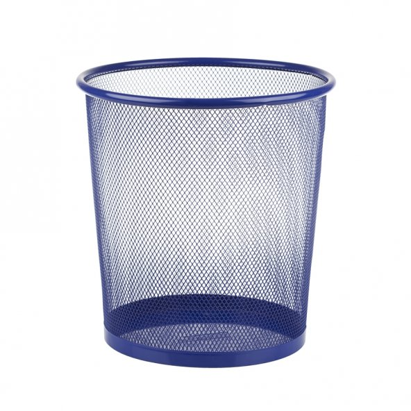 Bigpoint Metal Perfore Çöp Kovası Orta Mavi