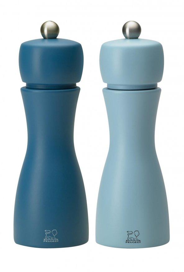 Peugeot Tahiti Tuz Ve Karabiber Değirmen Seti 15 Cm Mavi