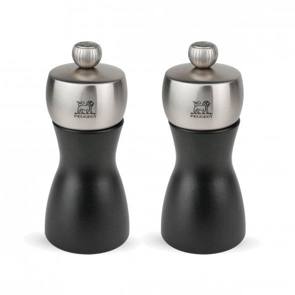 Peugeot Fidji Karabiber ve Tuz Değirmen Seti 12 Cm Mat Siyah