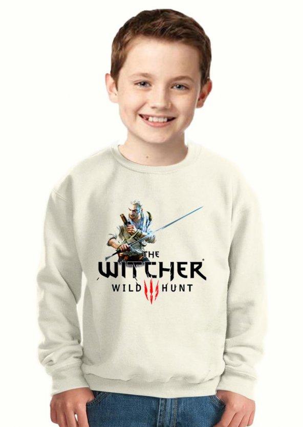 Tshirthane Witcher - Geralt Of Rivia sword Çocuk Sweatshirt