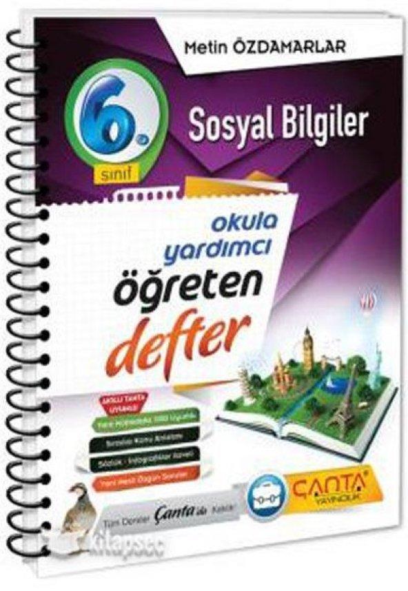 6.Sınıf Sosyal Bilgiler Öğreten Defter Çanta Yayınları