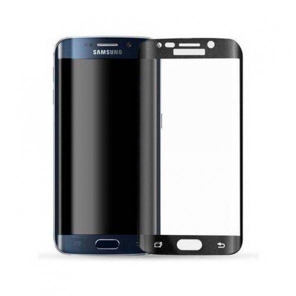 Samsung Galaxy S6 Edge 3D Kavisli Tam Kaplayan Kırılmaz Cam Ekran