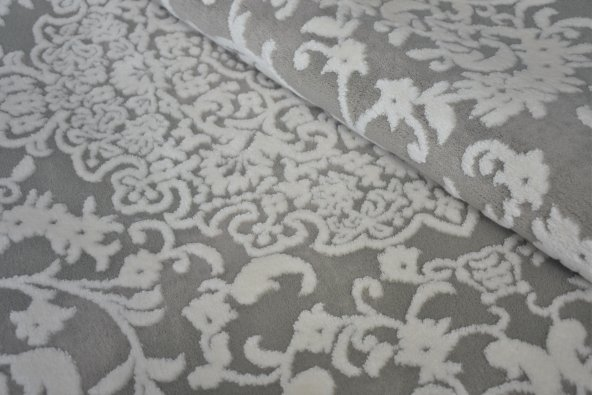 Bej Klasik Desen Bordürlü Salon Halısı - HS97074