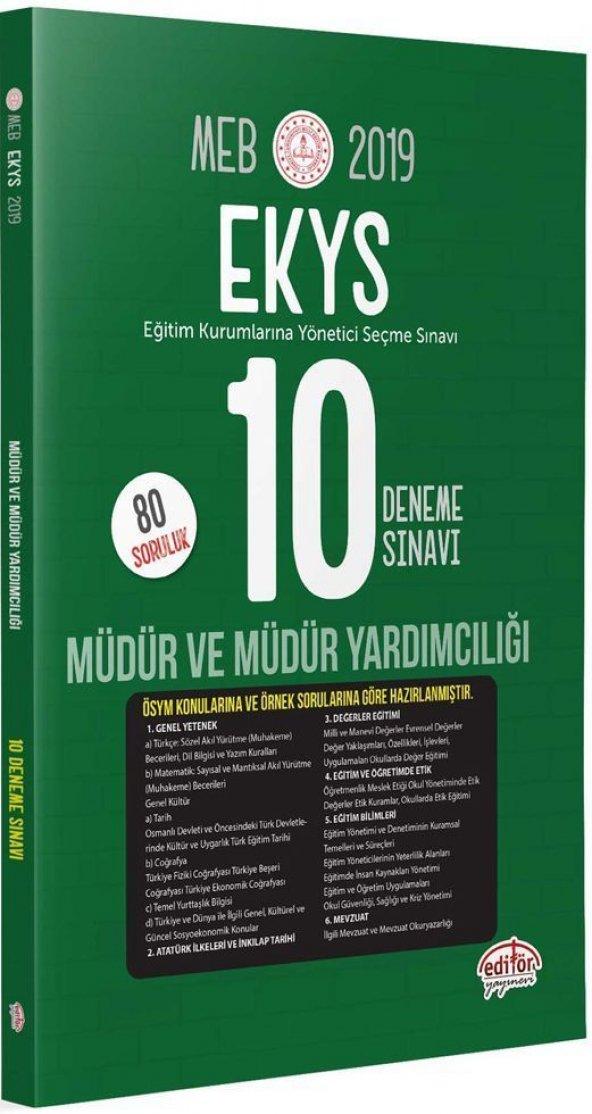Editör Yayınları 2020 MEB Müdür ve Müdür Yardımcılığı 10 Deneme Sınavı