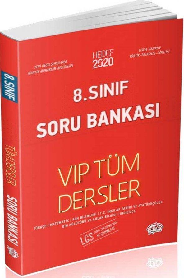 Editör Yayınları 8. Sınıf Tüm Dersler VIP Soru Bankası Kırmızı Kitap