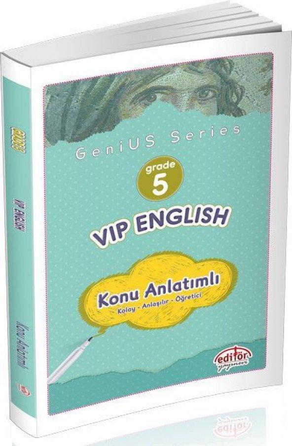 Editör Yayınları 5. Sınıf VİP İngilizce Konu Anlatımlı