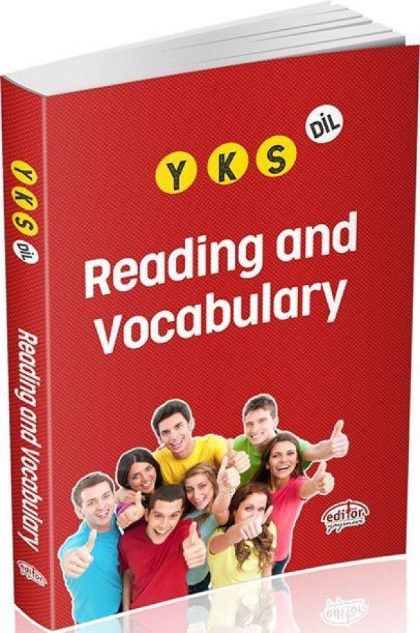 Editör Yayınları YKS Dil Reading and Vocabulary