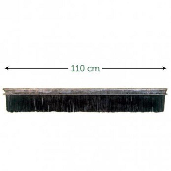 110 Cm Sun Uzun Telli  Şerit Bordür Fırçası (Demir Saç Bağlantılı, Plastik-Çelik Kıllı)(4 Adet)