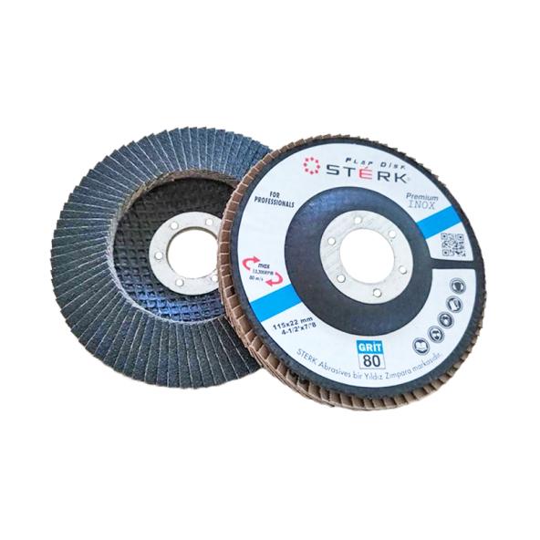 STERK Flap Disk Zımpara Zirkonyum 115x22mm / 40Kum (5 Adet)