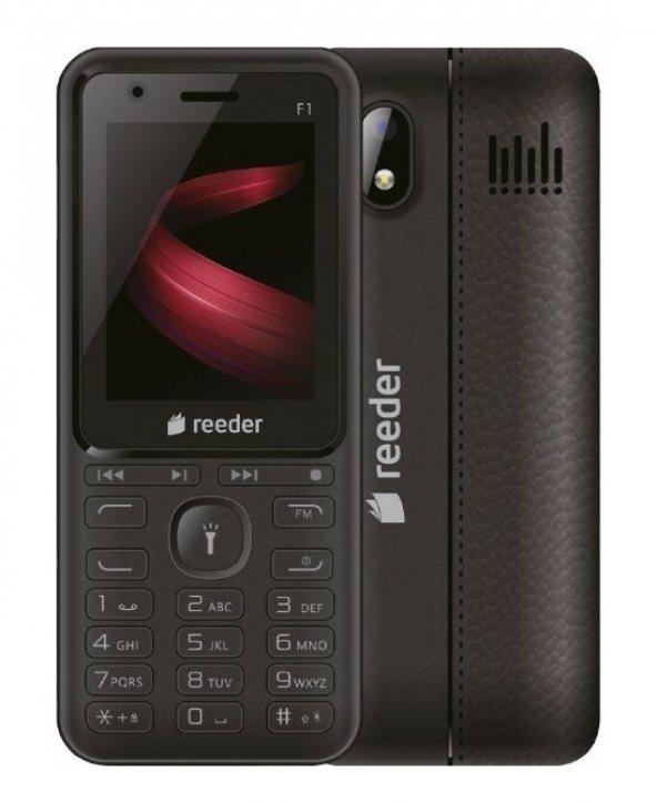 Reeder F1 Touche Siyah Tuşlu Cep Telefonu - Distribütör Garantili