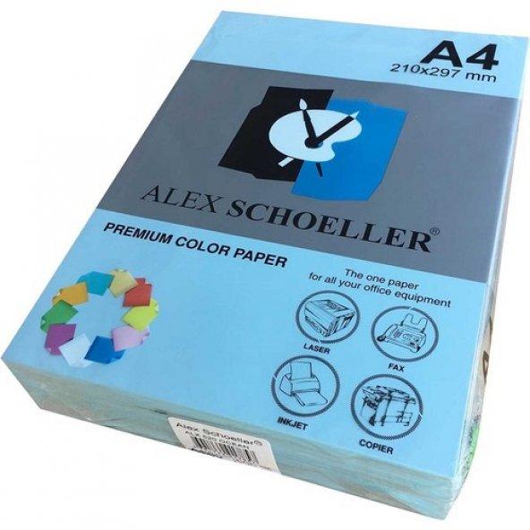 Alex Schoeller A4 Fotokopi Kağıdı 500 lü Açık Mavi 520