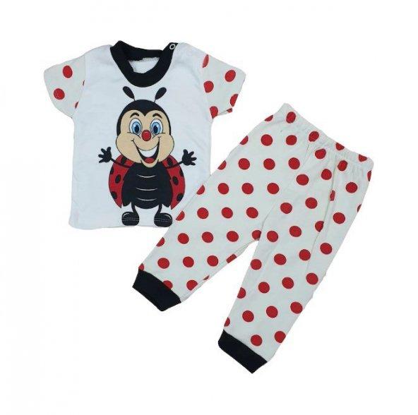 Kız-Erkek Bebek Uğur Böceği Pijama Takımı 3-9 Ay Kırmızı - C73347-1