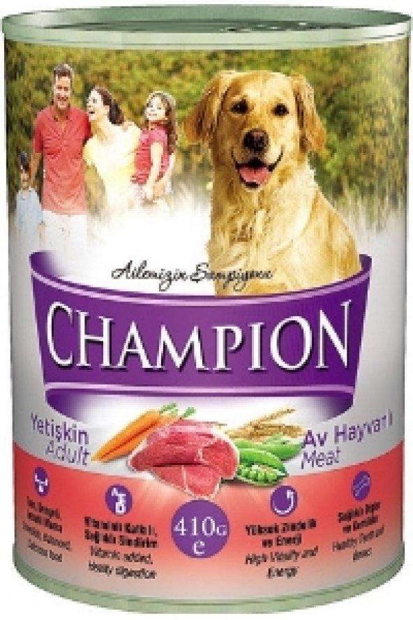 Champion Av Hayvanlı Köpek Konservesi 12 Adet x 415 Gr