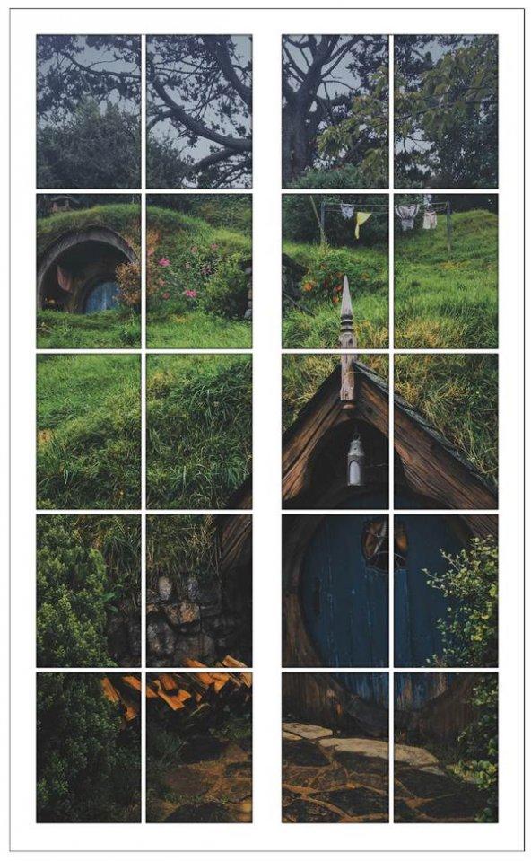 Pencere, Shire, Hobbit Köy Duvar Sticker