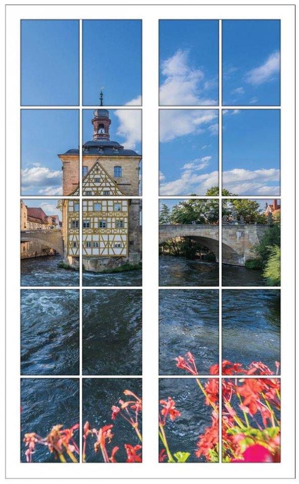 Pencere, Köprü, Nehir, Mimari, Duvar Sticker