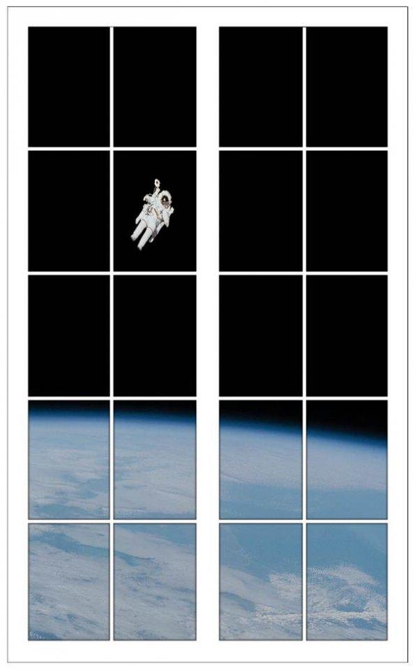Pencere, Astronot, Uzay, Atmosfer Duvar Sticker