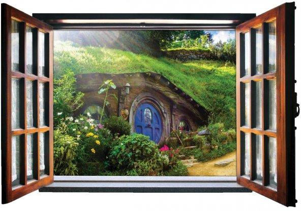 Pencere, Shire, Hobbit Duvar Sticker