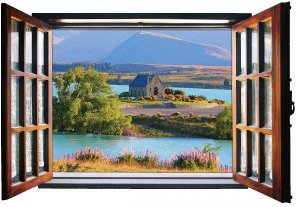 Pencere, Manzara Duvar Sticker