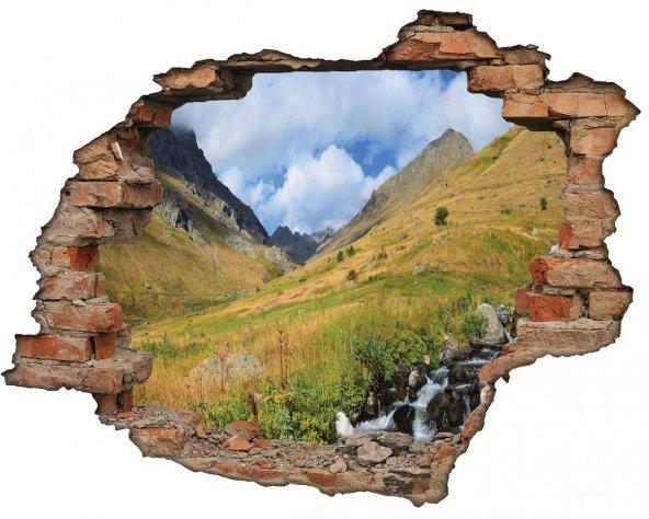 Kırık Tuğla, Dağ, Yayla, Manzara Duvar Sticker