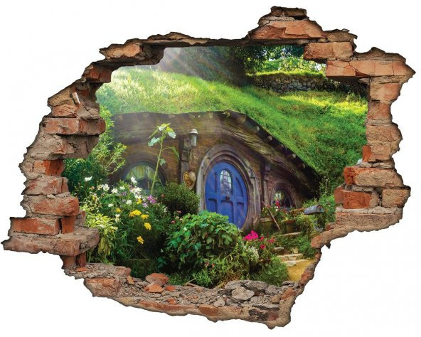Kırık Tuğla, Hobbit, Shire Duvar Sticker