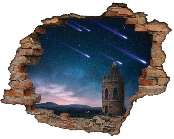 Kırık Tuğla, Kule, Kuyruklu Yıldız Duvar Sticker