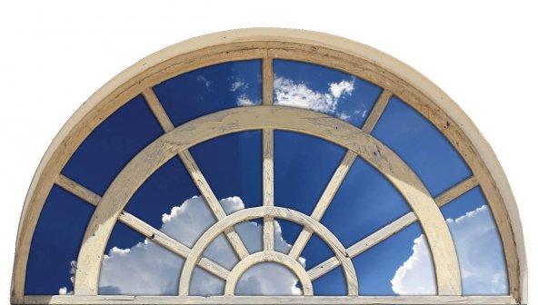 Pencere, Bulut, Gökyüzü Duvar Sticker