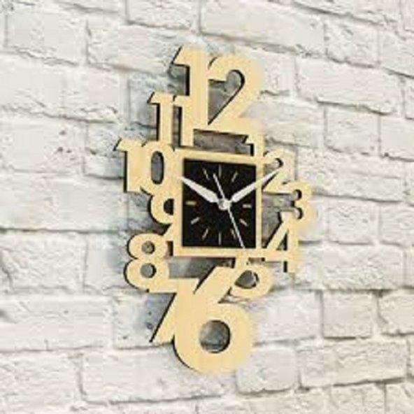 TrendBOX  Ahşap  Duvar Saati  Çift Renk Saat