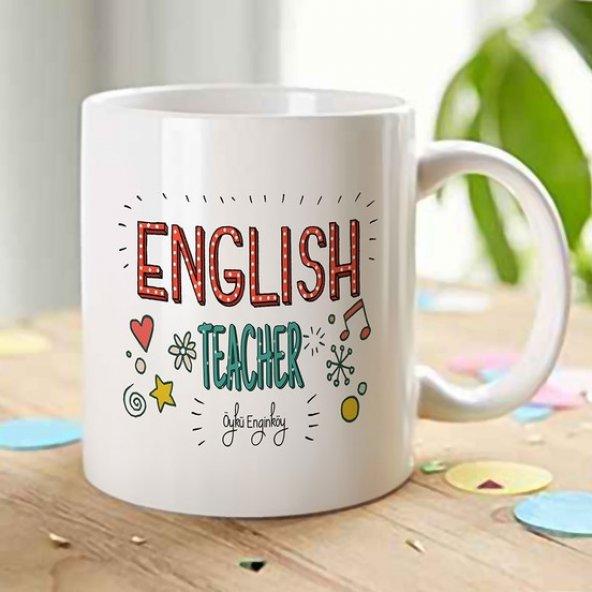 TrendBox Kişiye Özel English Teacher Kupa Bardak