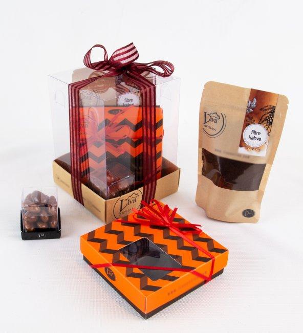 Liva Portakal Tiramisu Draje Çikolata Küp Kutu Serisi