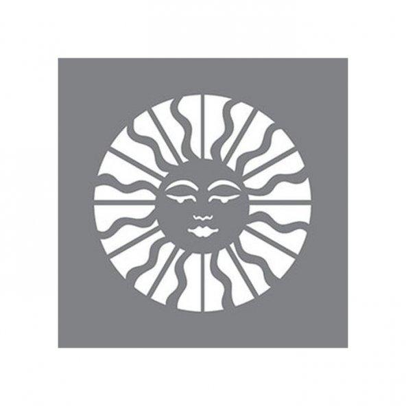 Astronomik Güneş Stencil Tasarımı 30 x 30 cm