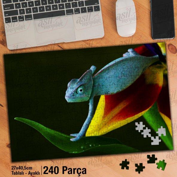 Asil Hobi - Bukalemun - Sevimli Hayvan - Doğa Yapboz - Ayak Destekli 240 Parça Puzzle