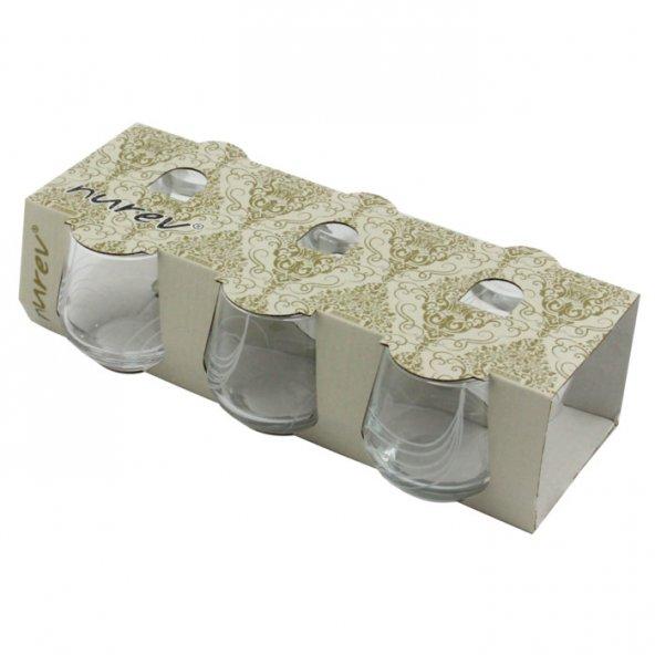 Nurev 6lı Kahve Yanı Su Bardağı - Yaprak