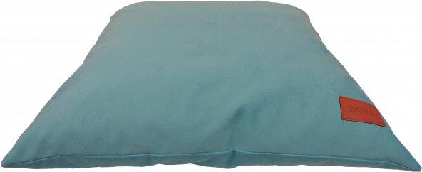 Doya Nubuk Fermuarlı Bebe Mavi Küçük Irk Kedi Köpek Yatağı