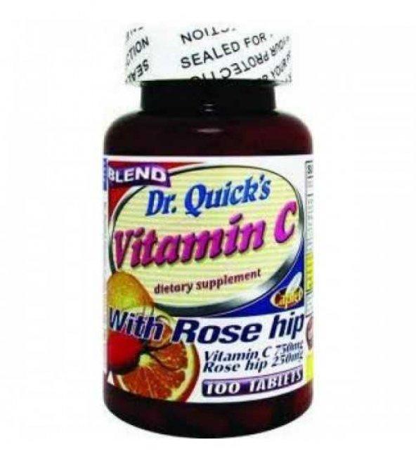 Dr.Quicks Rosehips ve Vitamin C 100 Tablet Kargo Bizden