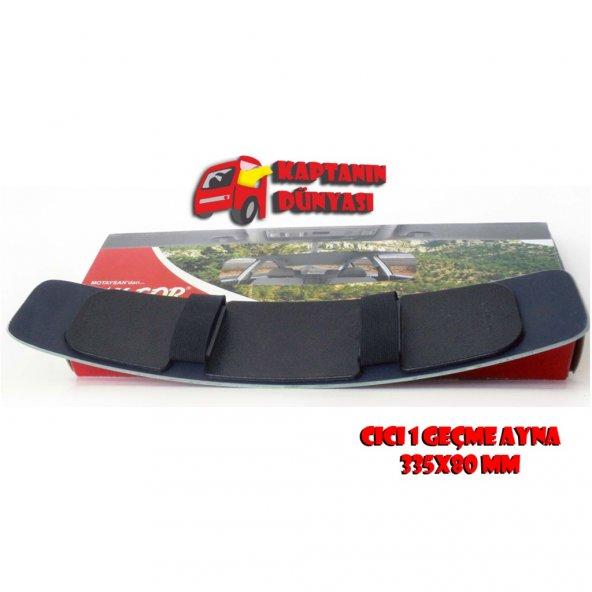 TAKGÖR Cici Geçme-1 Panoramik Kör Nokta Aynası Lastikli Ayna 335x80mm