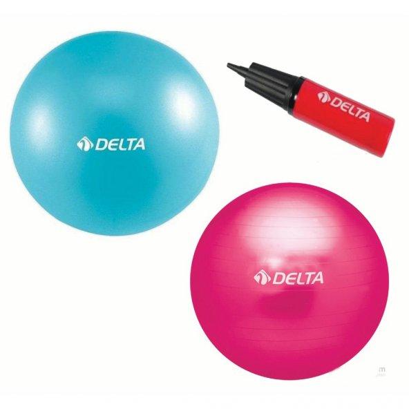 Delta Deluxe Pilates Topu Seti 65 cm+20 cm Top+Şişirme Pompası