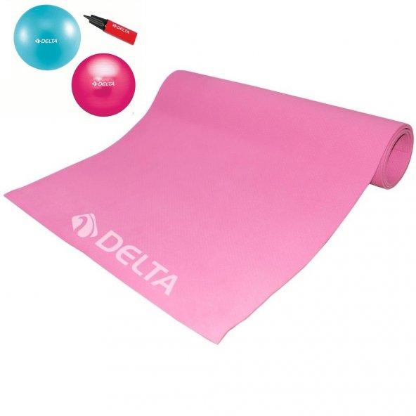 Pilates Seti 4 mm Minder 25 cm Top + Pompa