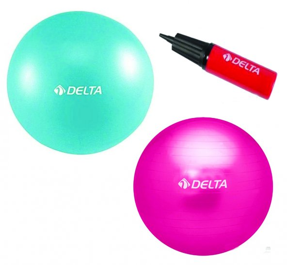 Delta Deluxe Pilates Topu Seti 75 cm+20 cm Top+Şişirme Pompası