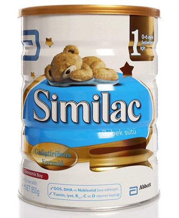 Similac 1 Bebek Sütü 850 gr SKT: Ocak 2021