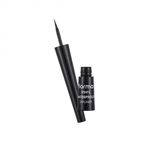 Flormar Vinly Waterproof Dipliner - Suya Dayanıklı Parlak Bitişli Eyeliner Black 2.5 ml