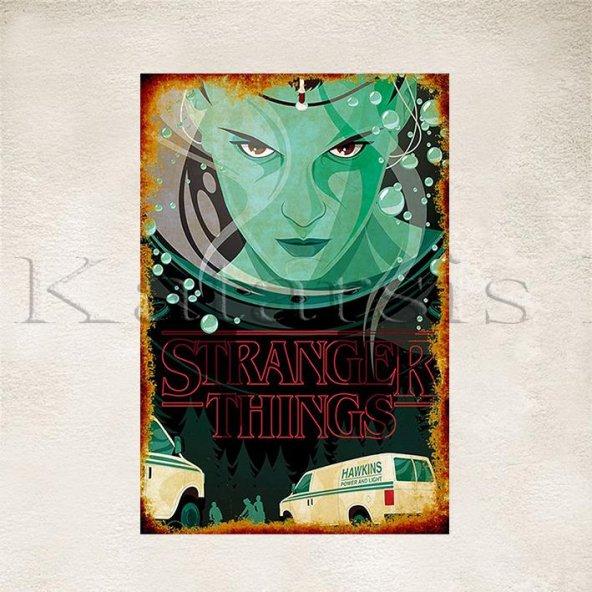 Stranger Things Baskılı Ahşap Poster 4