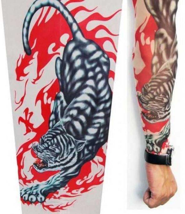 Tattoo Leopar Figürlü Giyilebilir dövme