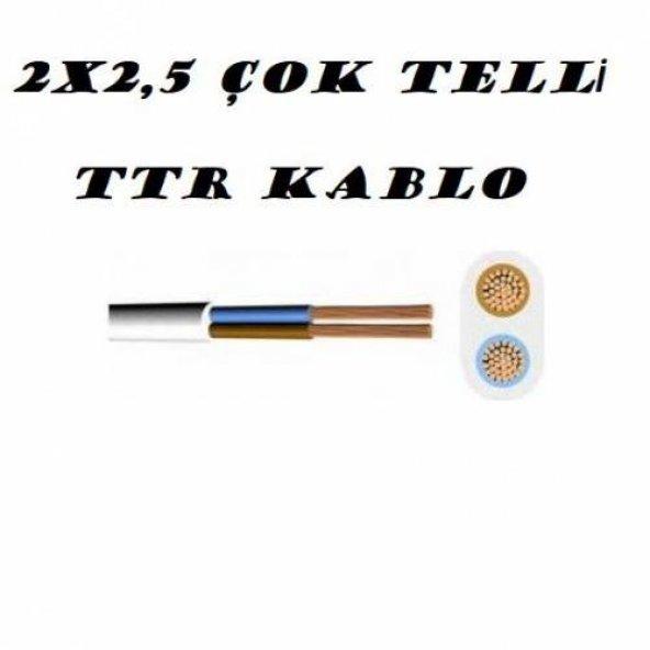 2X2,5 TTR ÇOK TELLİ KABLO 1 KALİTE (5 METRE SATIŞIMIZ) ===KARGO BEDAVA ===