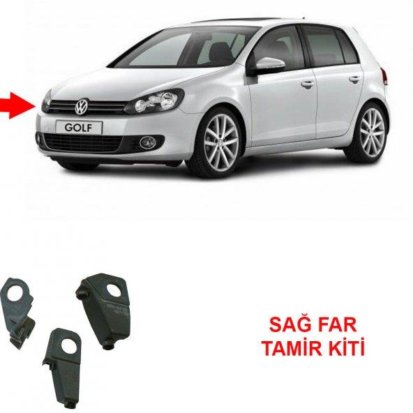 Volkswagen GOLF 6 SAĞ Far Tamir Kiti Plastiği Ayağı