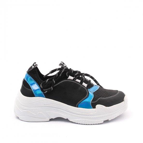 Noyzi Kadın Spor Ayakkabı - Siyah, Beyaz