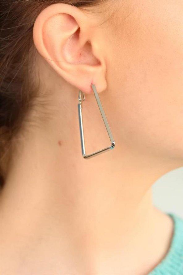 Geometrik Metal Bayan Küpe
